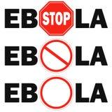 ирус Эбола знака 3 стопов Стоковые Изображения