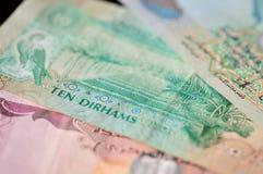 10 дирхамов Объединенных эмиратов Стоковые Изображения RF