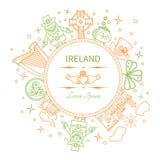 Ирландия - линейная форма значка круга Стоковая Фотография RF