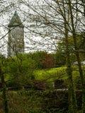 Ирландия Ландшафт с колокольней Стоковые Изображения RF