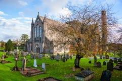 Ирландия kilkenny Кладбище перед церковью собора St Canices Стоковая Фотография