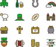 Ирландский комплект значка Стоковая Фотография RF