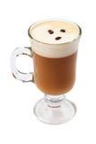 Ирландский кофе изолированный на белой предпосылке Стоковое Фото