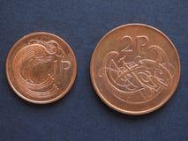Ирландский фунт & x28; IEP& x29; монетки Стоковое фото RF