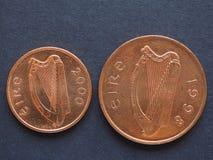 Ирландский фунт & x28; IEP& x29; монетки Стоковые Фотографии RF