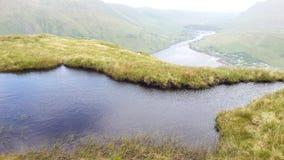 Ирландский фьорд, холм Leenane Стоковые Фотографии RF