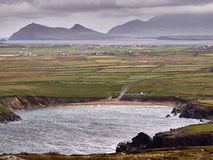 Ирландское западное побережье на ветреный день Стоковая Фотография