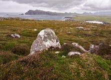 Ирландское западное побережье на ветреный день Стоковое фото RF