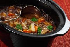 Ирландское тушёное мясо в медленном баке плитаа Стоковые Изображения RF