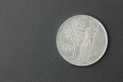 100 лир итальянский Стоковые Фотографии RF