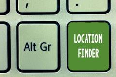 Искатель положения текста сочинительства слова Концепция дела для обслуживания a отличаемого для того чтобы найти адрес выбранног бесплатная иллюстрация