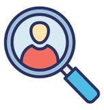 Искатель профиля изолировал значок вектора который может легко доработать или отредактировать бесплатная иллюстрация