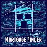 Искатель ипотеки значит ипотечный кредит и заем иллюстрация вектора