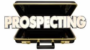 Искать находит новый портфель продаж надувательства клиентов Стоковое Изображение