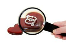 искать обручального кольца Стоковая Фотография RF