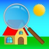 Искать дом Стоковое Изображение RF