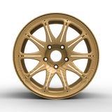 диски для иллюстрации автомобиля 3D Стоковое фото RF