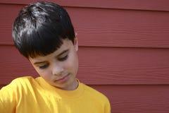 исключенный мальчик Стоковая Фотография