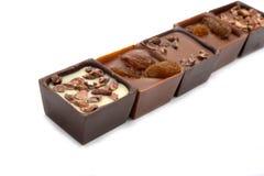 Исключительные изолированные помадки шоколада собрания Стоковые Фотографии RF