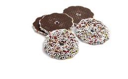 Исключительные помадки шоколада изолированные на белизне Стоковое фото RF