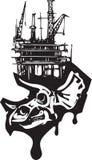 Ископаемое горючее черепа трицератопс Стоковое фото RF