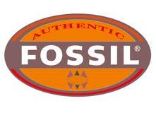 Ископаемый логотипа иллюстрация штока