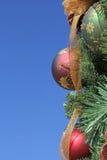 Искра ленты внешних орнаментов рождества золотая Стоковые Фотографии RF
