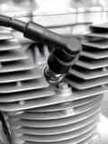 искра штепсельной вилки мотоцикла Стоковое Фото