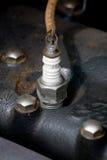 искра штепсельной вилки Стоковая Фотография