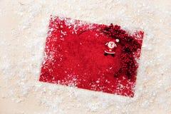 Искра xmas предпосылки рождества освещает текст космоса Нового Года зимнего отдыха карточки красной предпосылки холста веселый Стоковые Фото