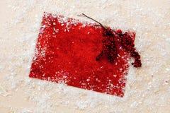 Искра xmas предпосылки рождества освещает текст космоса Нового Года зимнего отдыха карточки красной предпосылки холста веселый Стоковая Фотография RF