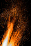 Искры ночи костра Стоковое фото RF