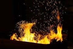 Искры пожара стоковое изображение
