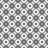 Искусства вектора безшовной картины предпосылки черно-белые иллюстрация штока