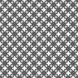 Искусства вектора безшовной картины предпосылки черно-белые иллюстрация вектора