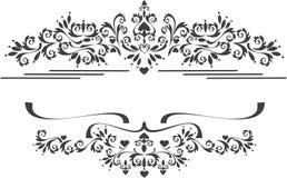 искусства граничат декоративный орнамент графика рамки Стоковые Фотографии RF