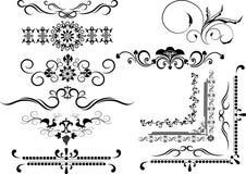искусства граничат декоративный орнамент графика рамки Стоковые Изображения