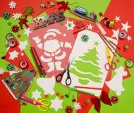 Искусства и поставки ремесла для рождества Стоковые Фотографии RF