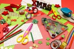 Искусства и поставки ремесла для рождества Стоковое фото RF