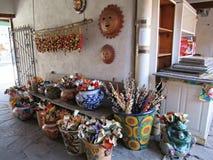 искусства и ремесла в Санта-Фе, Неш-Мексико стоковые изображения