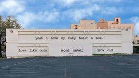 Искусства район епископа настенной росписи лирика Stevie Рэй Vaughn, Даллас, Техас стоковые изображения