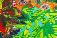 Искусства текстуры цветка рисуя смешивание бумаги флоры установленного красочное стоковое фото rf