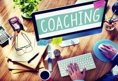 Искусства тренера тренируя учат уча концепции тренировки стоковые изображения
