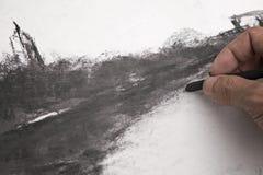 Искусства угля Стоковые Фотографии RF