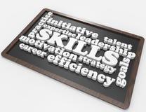Искусства, экспертиза, цели, руководство, карьера иллюстрация штока