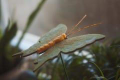 Искусственная бабочка в цветочном горшке Стоковые Фото
