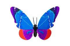 Искусственная бабочка изолированная на белой предпосылке Стоковое Изображение RF