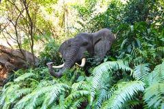 Искусственная голова африканского слона Стоковое Изображение RF