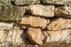 искусственная голубая светлая каменная стена Стоковое Изображение