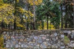 искусственная голубая светлая каменная стена Стоковая Фотография RF